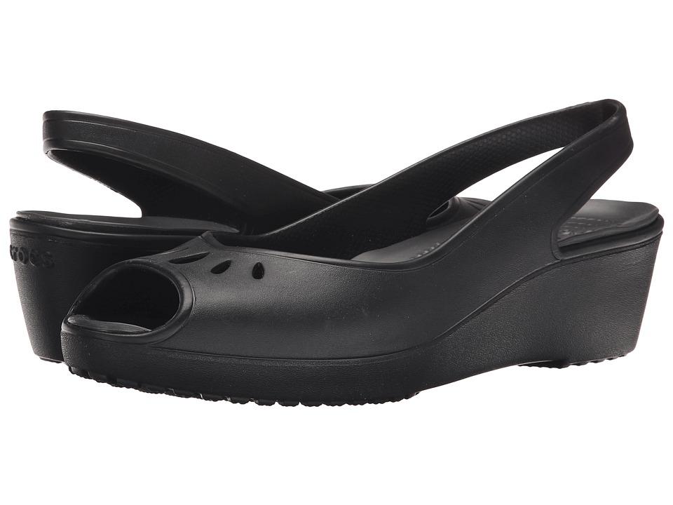 Crocs - Mabyn Mini Wedge (Black) Women