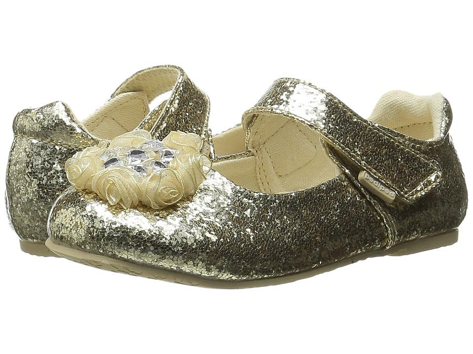pediped - Delaney Flex (Toddler/Little Kid) (Gold) Girl's Shoes