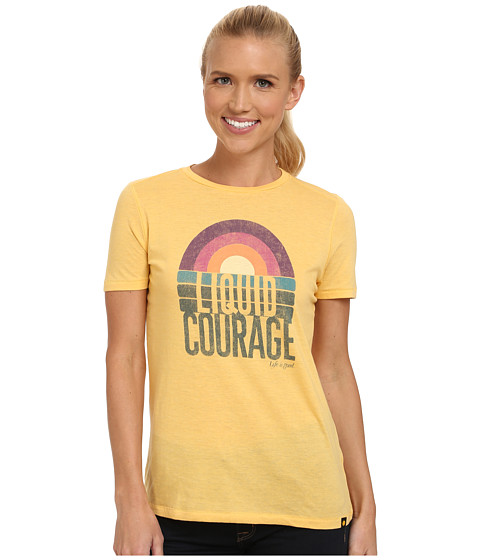 Life is good - Cool Tee (Sunflower Gold) Women's Short Sleeve Pullover