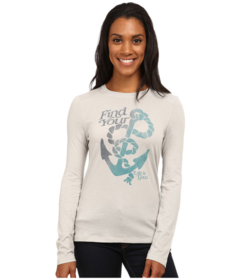 Life is good - Cool L/S Tee (Frosted Grey) Women