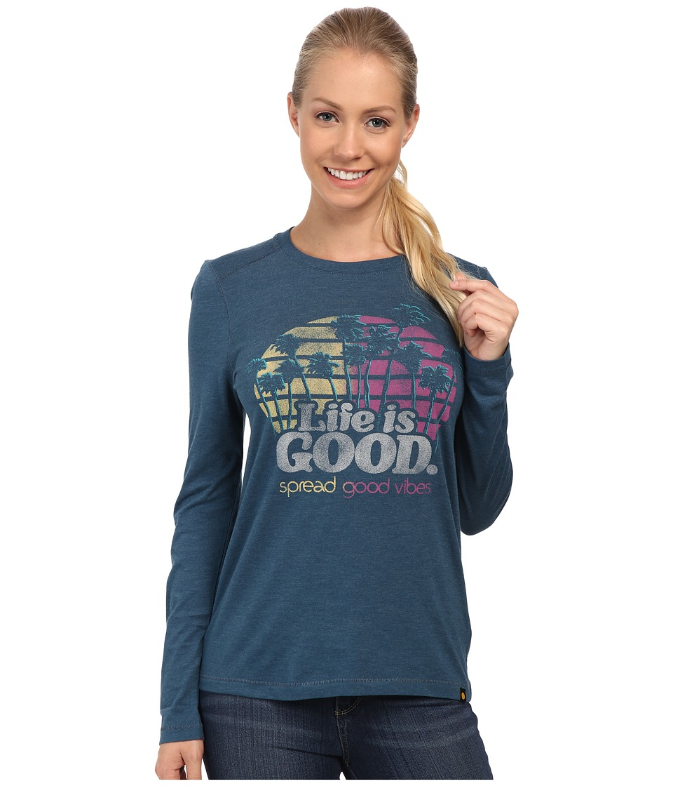 Life is good - Cool L/S Tee (Pacific Blue) Women's T Shirt