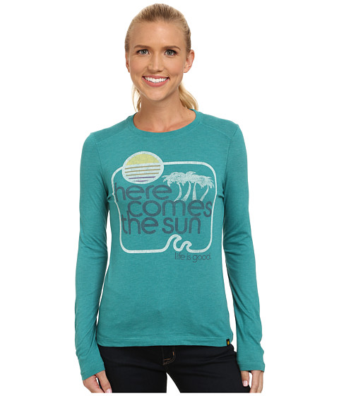 Life is good - Cool L/S Tee (Teal Blue) Women