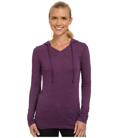 Life is good - Hooded Cool Long Sleeve (Smoky Plum) Women's Long Sleeve Pullover