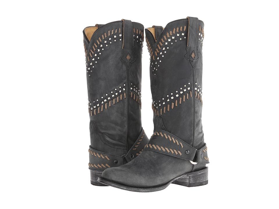 Stetson - Shiloh (Black) Cowboy Boots