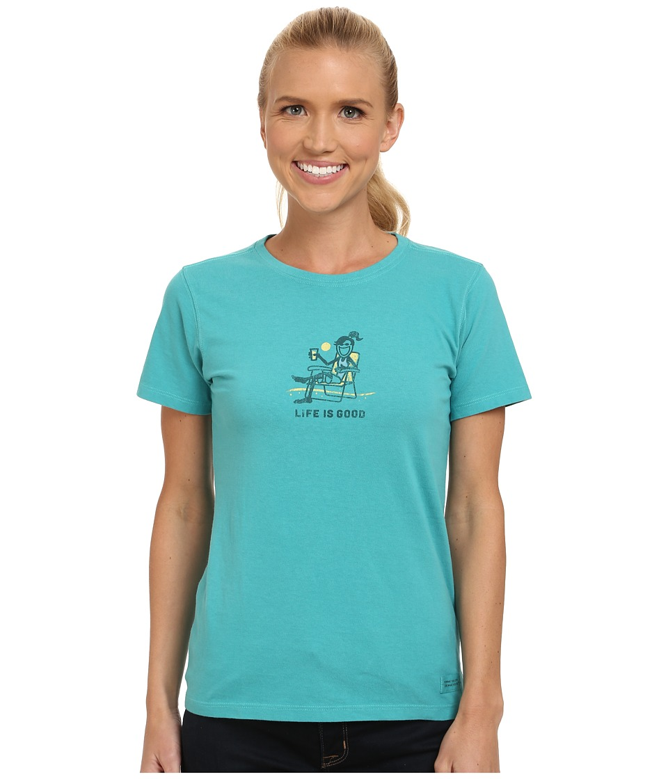 Life is good - Crusher Tee (Jackie Beach Chill/Teal Blue) Women's T Shirt