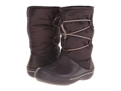 Crocs - Crocband II.5 Cinch Boot (Espresso/Mushroom) Women
