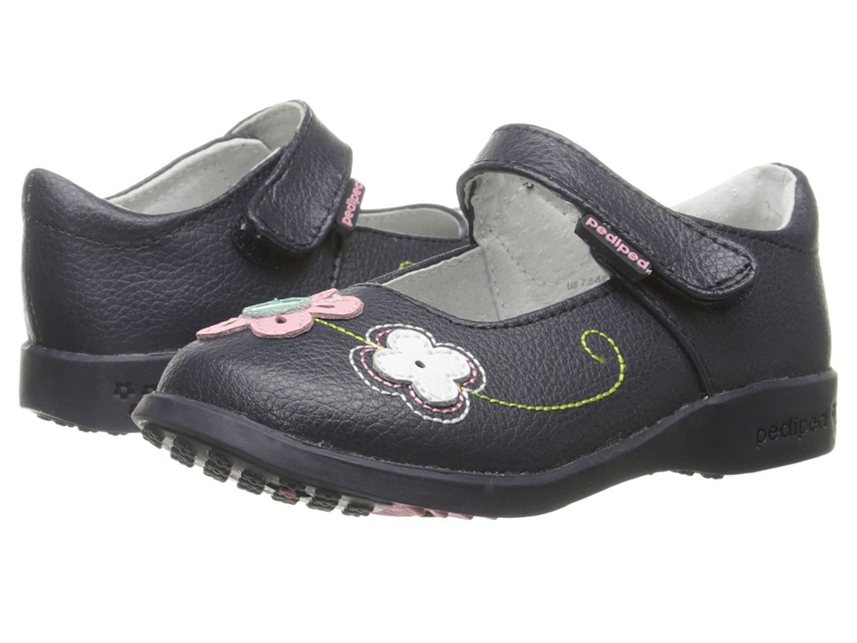 pediped - Lorraine Flex (Toddler/Little Kid) (Navy) Girl's Shoes
