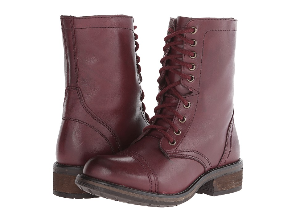 Steve Madden Troopa2.0 Combat Boot (Wine Leather) Women