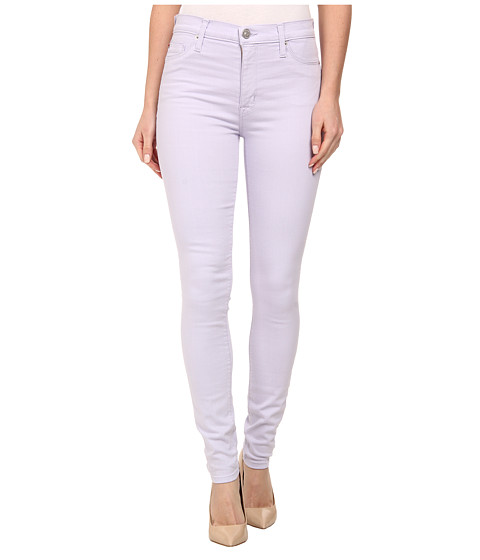 Hudson - Barbara High Waist Super Skinny Jeans in Light Orchid (Light Orchid) Women