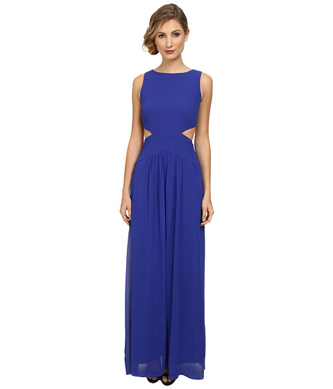 Nicole Miller - Queen of the Night Viscose Gerogette Dress (Cobalt) Women's Dress