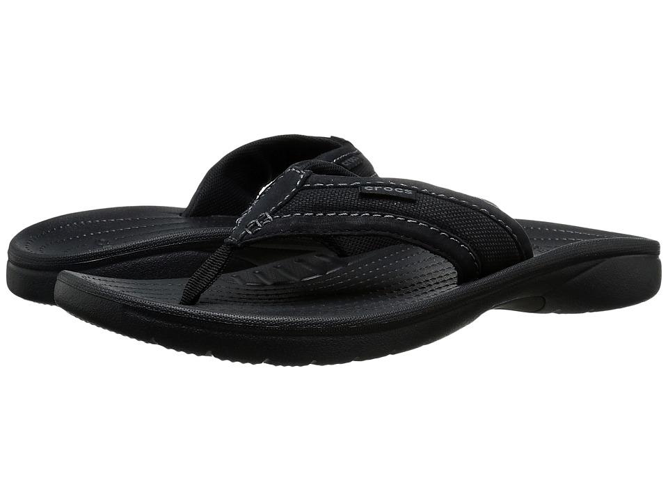 Crocs Walu Express Flip (Black/Black) Men