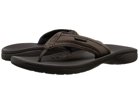 Crocs - Walu Express Flip (Espresso/Espresso) Men's Sandals