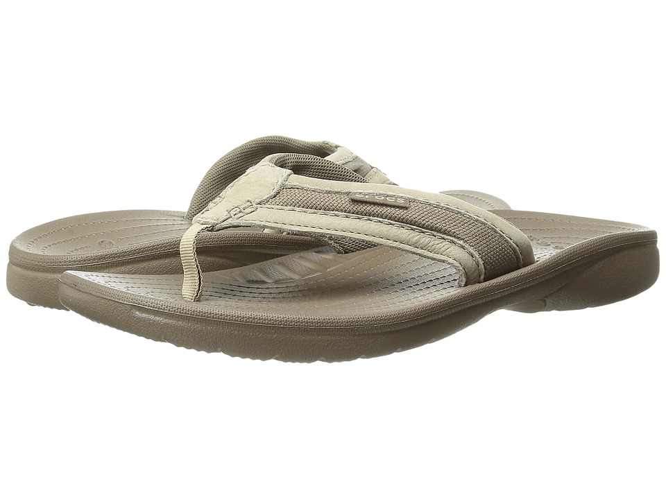 Crocs - Walu Express Flip (Khaki/Walnut) Men's Sandals