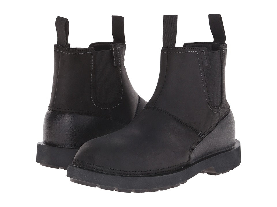 Crocs - Breck Boot (Black/Black) Men