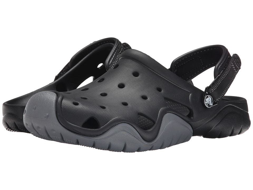 Crocs Swiftwater Clog (Black/Charcoal) Men