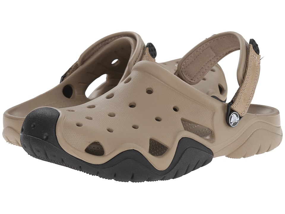 Crocs - Swiftwater Clog (Khaki/Black) Men's Shoes