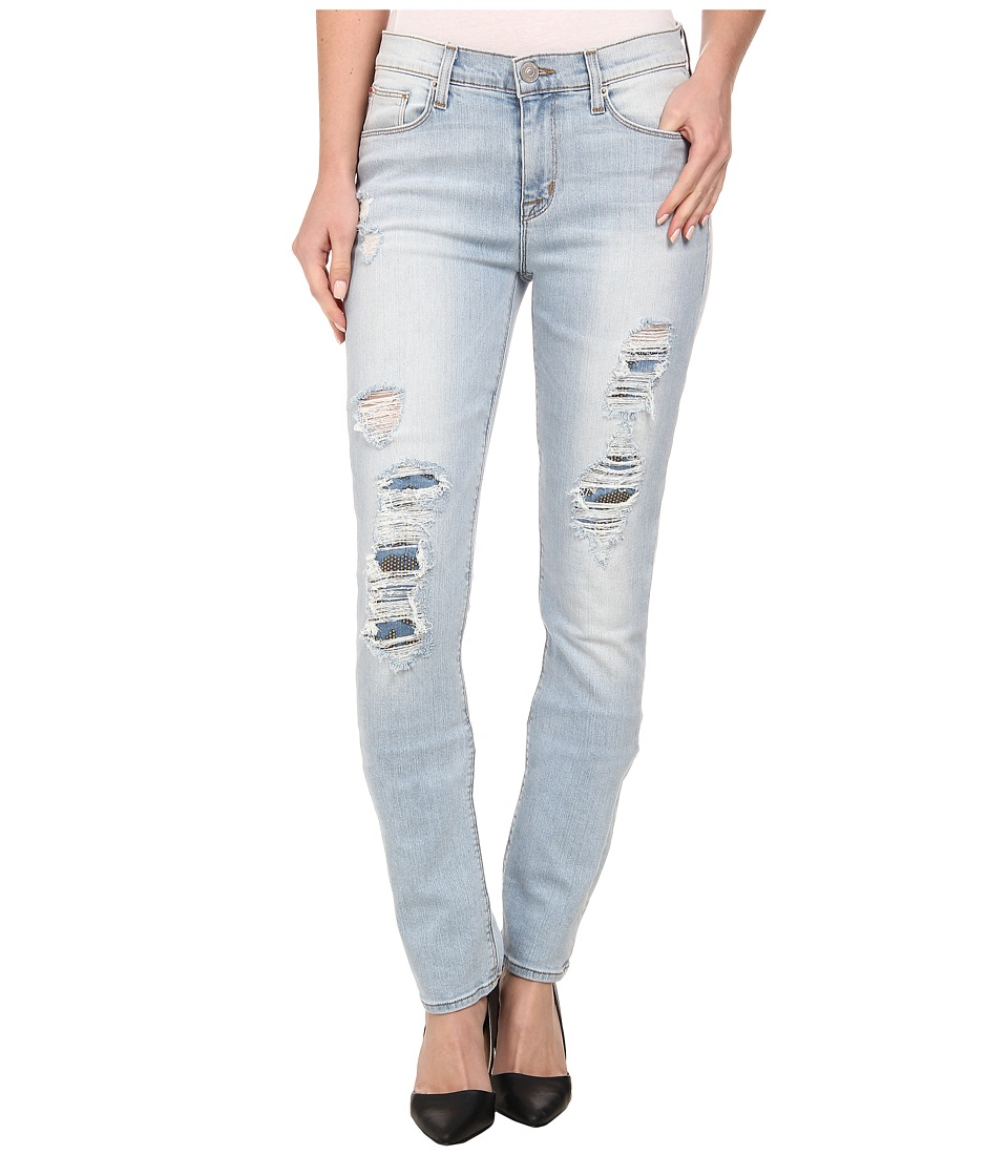 Hudson Custom Shine Mid Rise Skinny Jeans in Alley Cat (Alley Cat) Women