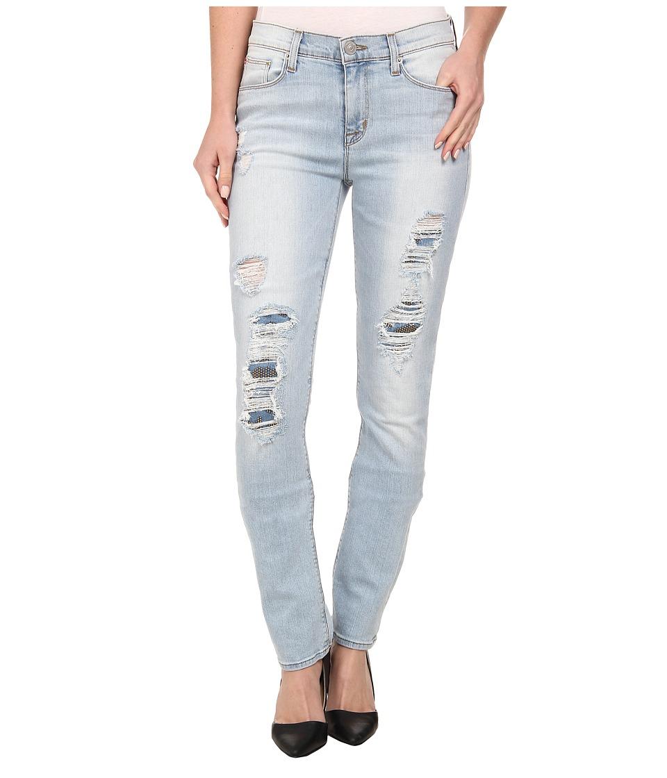 Hudson - Custom Shine Mid Rise Skinny Jeans in Alley Cat (Alley Cat) Women's Jeans