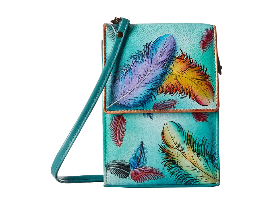 Anuschka Handbags - 412 Mini Sling Organizer (Floating Feathers) Cross Body Handbags