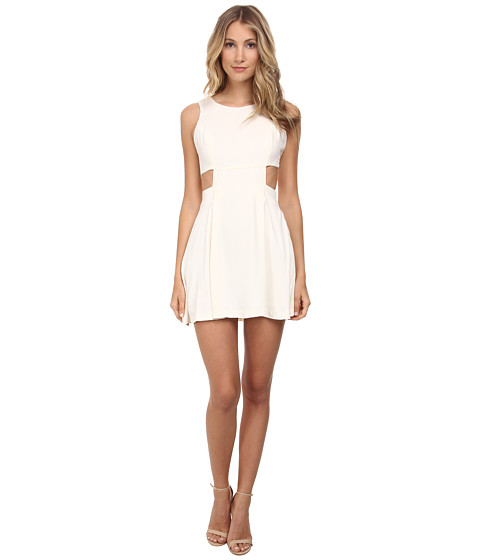 BCBGeneration - Side Cutout Bow Tie Dress (Whisper White) Women