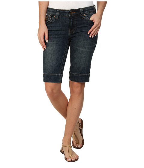 KUT from the Kloth - Natalie Bermuda (Irreplaceable with Dark Stone Base Wash) Women's Shorts