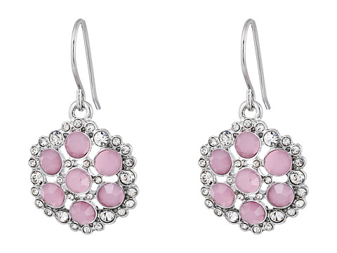 LAUREN by Ralph Lauren - Color Mingle French Wire Smooth Faceted Cluster Stones Drop Earrings (Rose/Silver) Earring