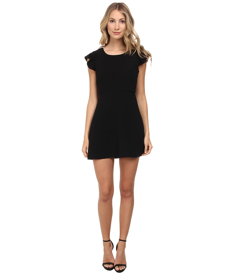 BCBGeneration - Back Ruffle Dress (Black) Women