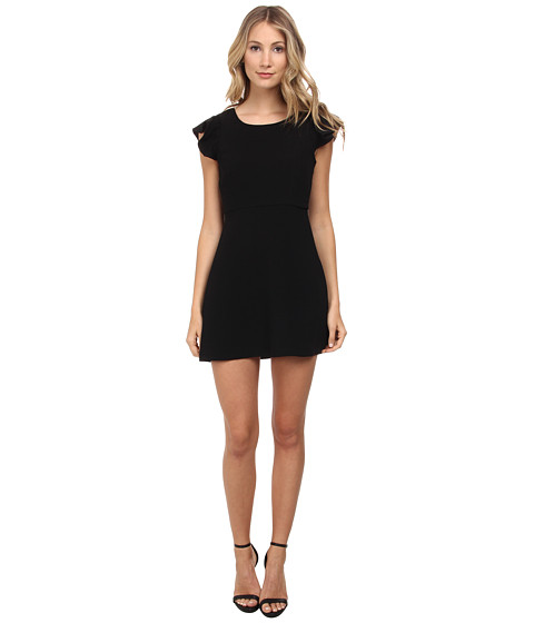 BCBGeneration - Back Ruffle Dress (Black) Women's Dress