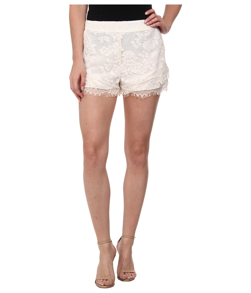 BCBGeneration - Double Layer Shorts (Whisper White) Women's Shorts