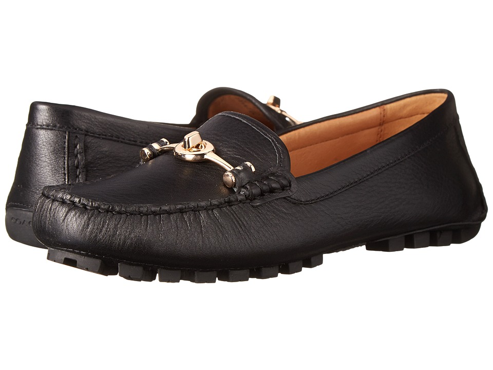 COACH - Arlene (Black Pebble Grain Leather) Women's Flat Shoes