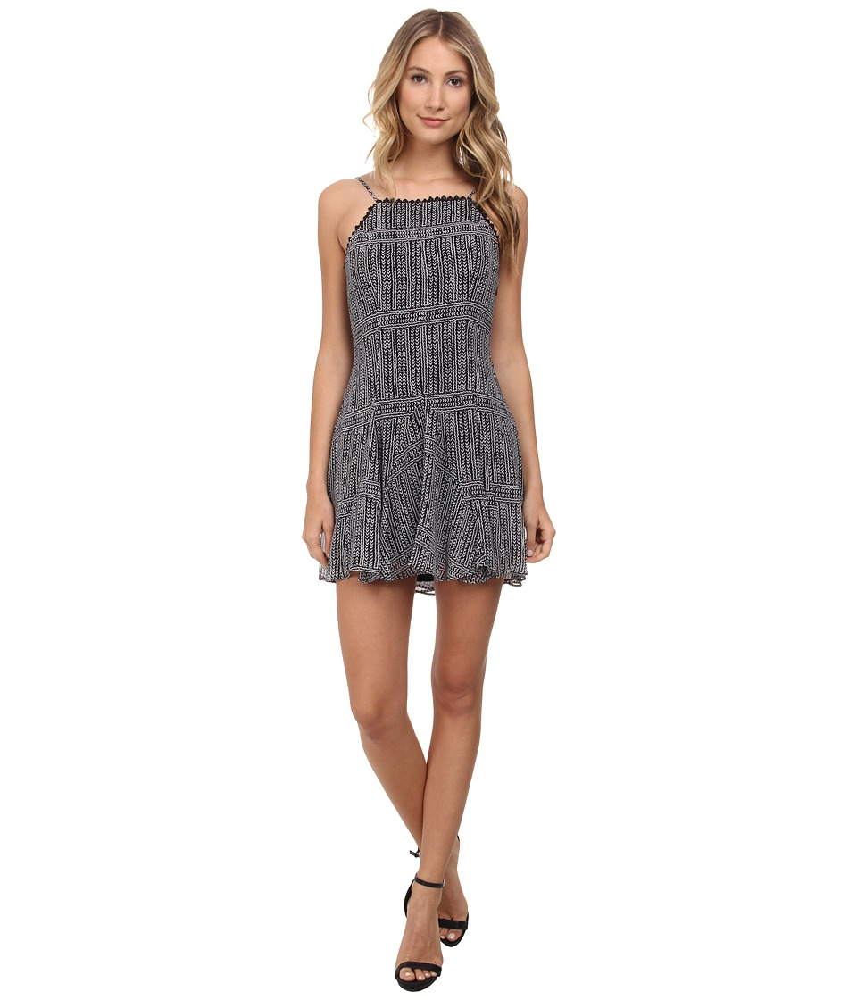 BCBGeneration Godet Slip Dress (Black Combo) Women