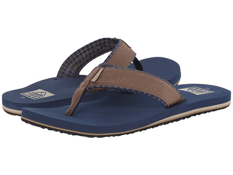 Reef - Ponto Prints (Brown/Blue) Men's Sandals