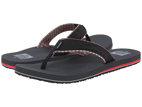 Reef - Ponto Prints (Charcoal/Red) Men's Sandals