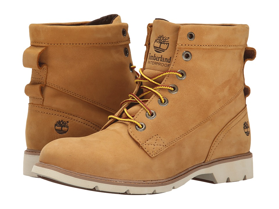 Timberland Bramhall 6 Lace-Up Waterproof Boot (Wheat Nubuck) Women