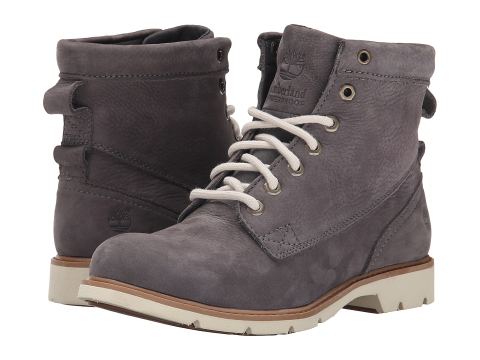 Timberland - Bramhall 6 Lace-Up Waterproof Boot (Dark Grey Buttersoft) Women's Boots