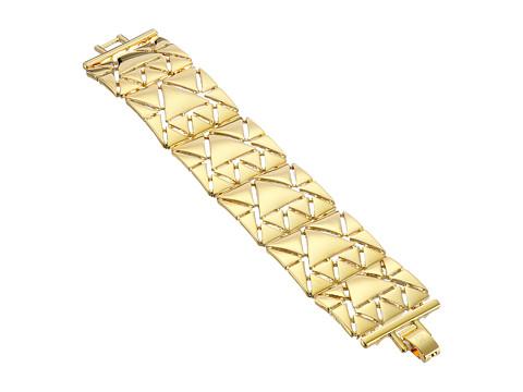 LAUREN by Ralph Lauren - Curacao Metal Triangle Links w/ Foldover Clasp Bracelet (Gold) Bracelet