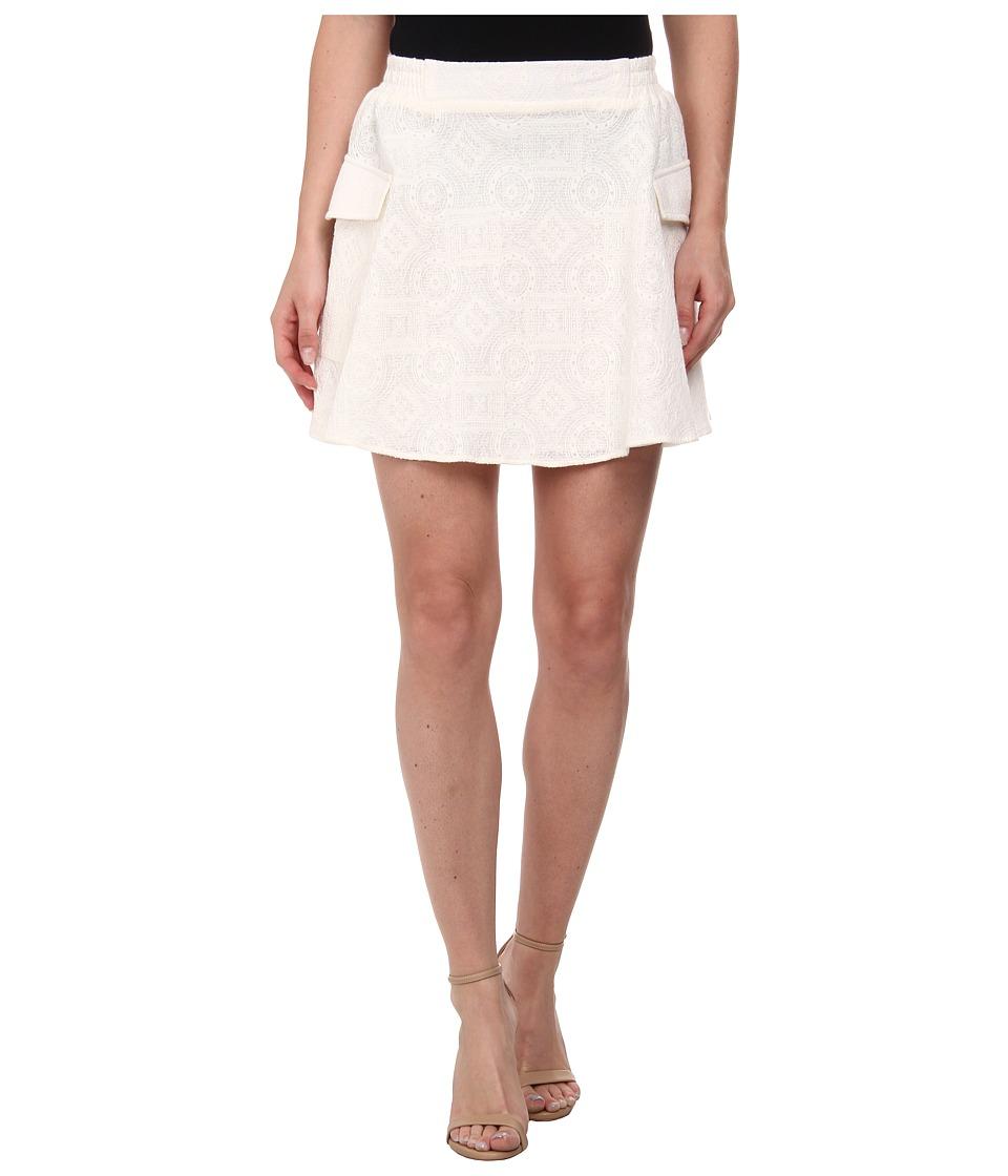 BCBGeneration Cargo A Line Skirt (Whisper White) Women