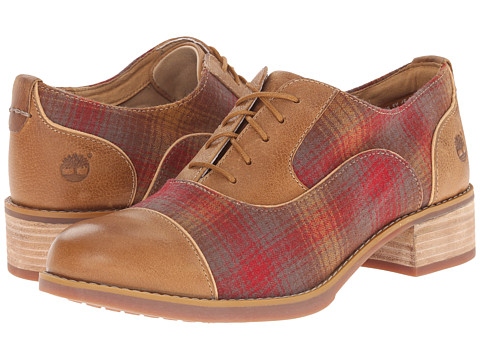 Timberland - Beckwith Fabric and Leather Lace Oxford (Wheat Woodlands/Red Pendleton Wool) Women