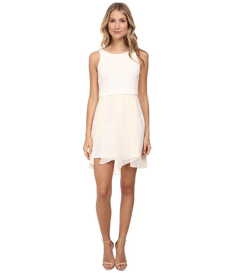 BCBGeneration - Jacquard Bodice Dress (Whisper White) Women