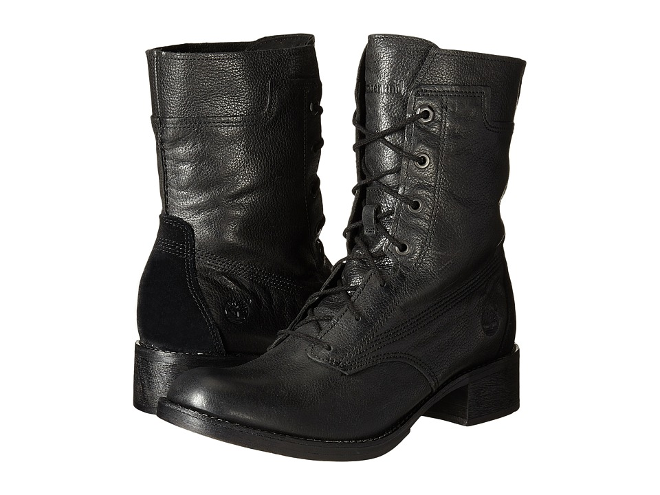 Timberland - Whittemore Mid Lace Boot (Jet Black Woodlands) Women's Boots