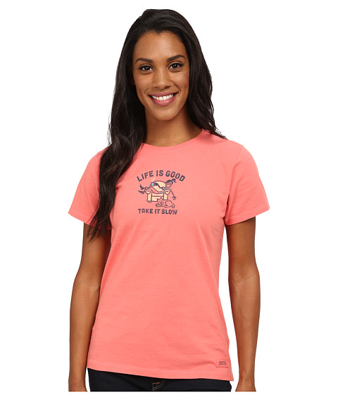 Life is good - Crusher Tee (Jackie Slow Lounge/Sunny Coral) Women
