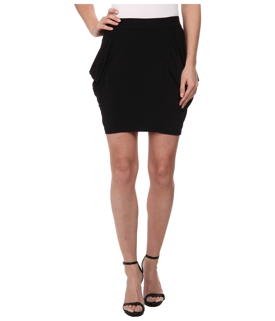 BCBGeneration - Draped Pocket Knit Skirt (Black) Women's Skirt