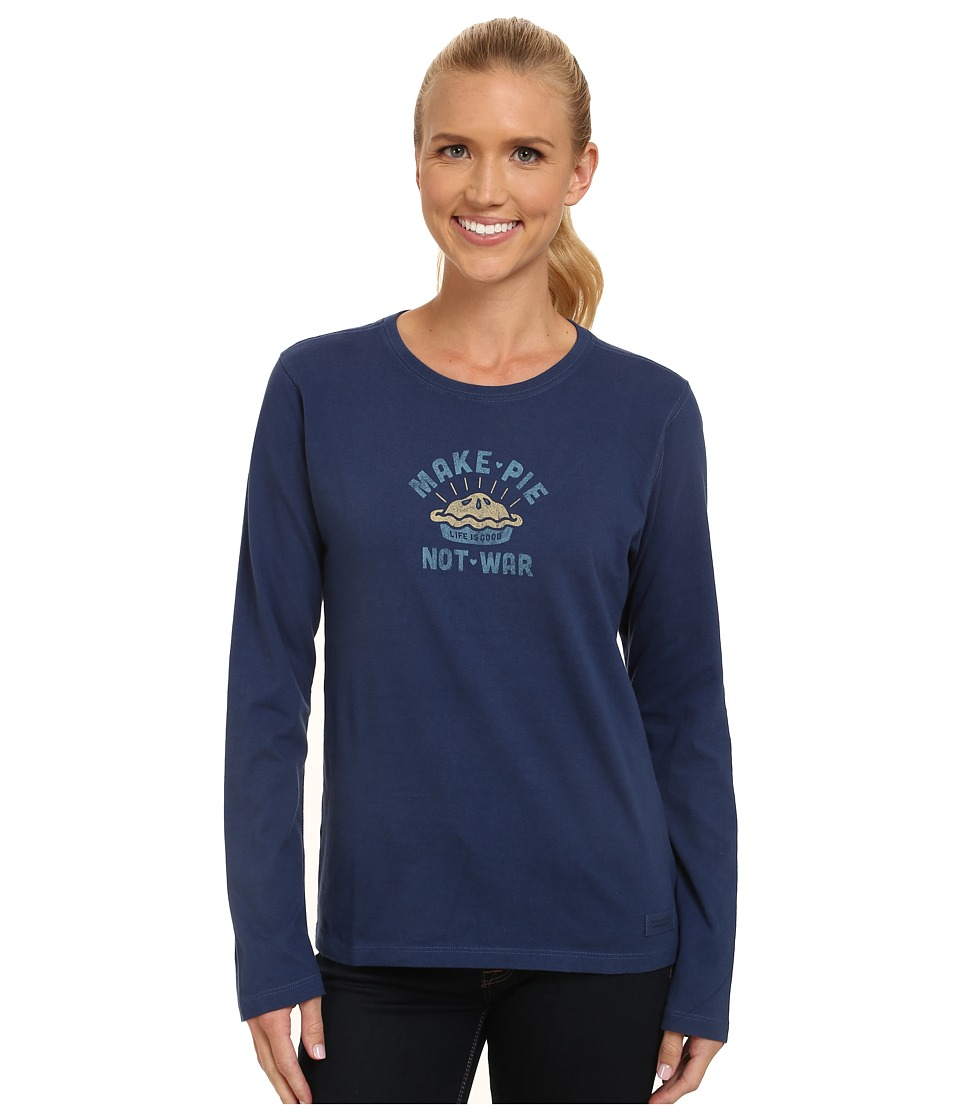 Life is good - Crusher L/S Tee (Make Pie/Darkest Blue) Women's Long Sleeve Pullover