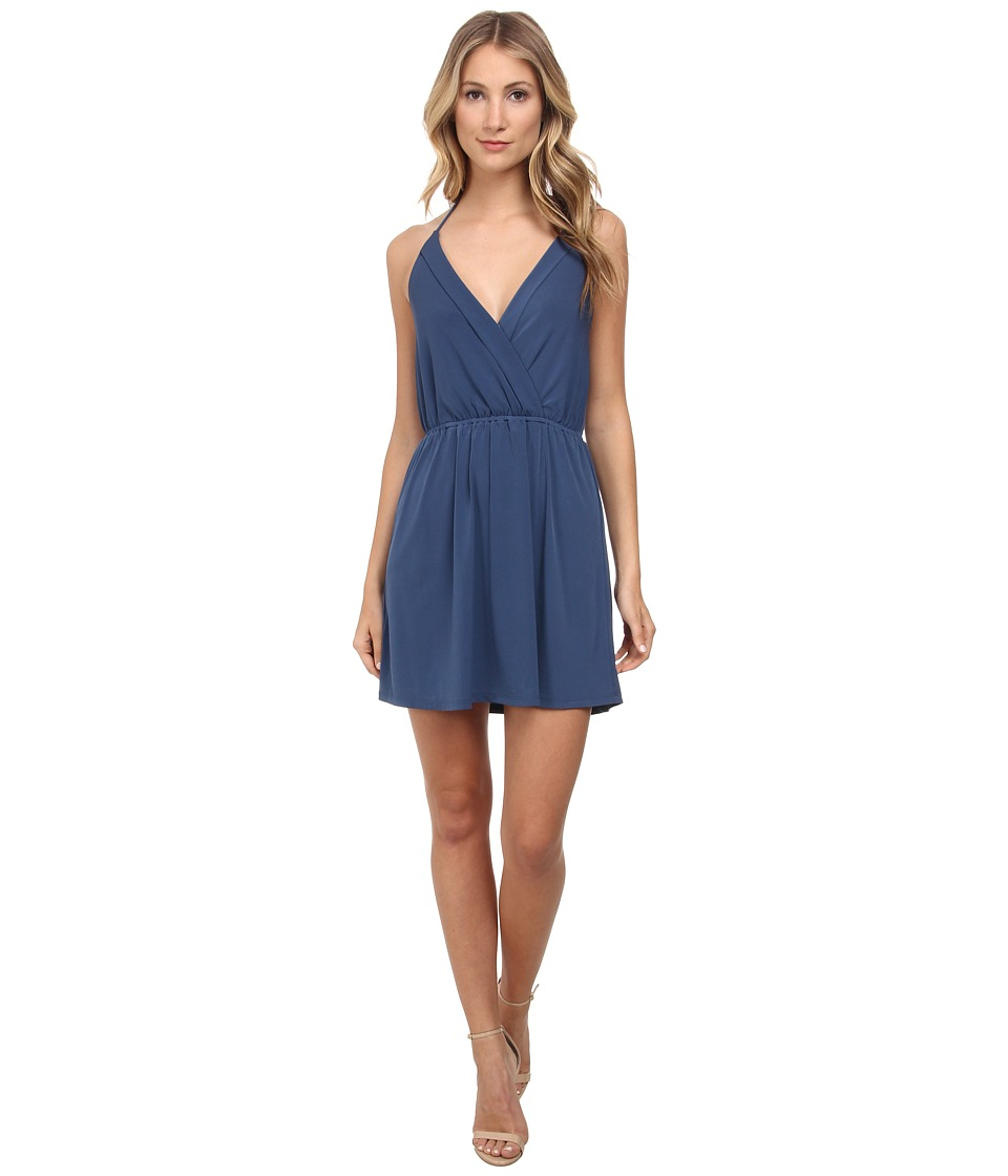 BCBGeneration - Matt Jersey Halter Dress (Solid Blue) Women's Dress