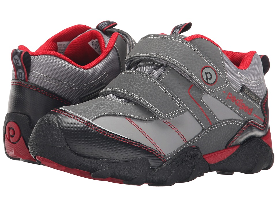 pediped - Max Flex (Toddler/Little Kid) (Charcoal) Boys Shoes