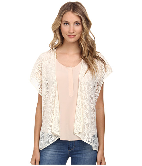 BCBGeneration - Short Kimono (Whisper White) Women