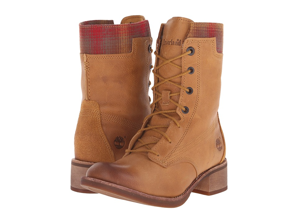 Timberland - Whittemore Fabric and Leather Lace-Up (Wheat Woodlands/Red Pendleton Wool) Women