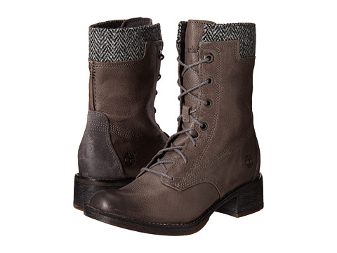 Timberland - Whittemore Fabric and Leather Lace-Up (Dark Grey Woodlands/Grey Harris Tweed Wool) Women