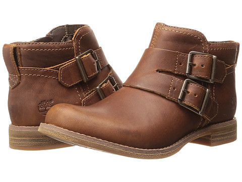 Timberland - Earthkeepers Savin Hill Double Buckle Ankle Boot (Wheat Forty Leather) Women's Boots