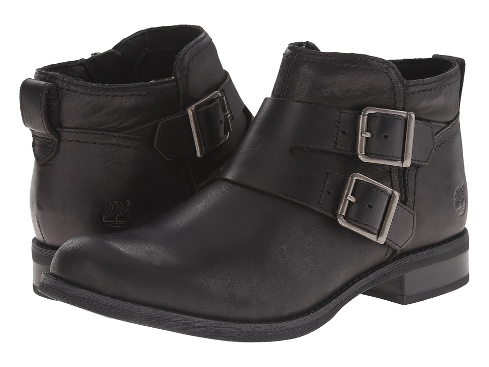 Timberland - Earthkeepers Savin Hill Double Buckle Ankle Boot (Black Smooth) Women's Boots